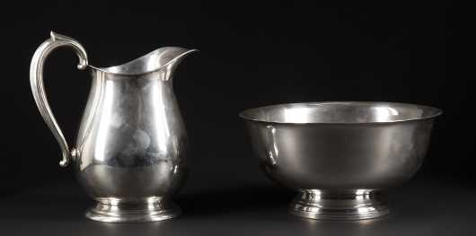 Sterling Silver Bowl and Pitcher