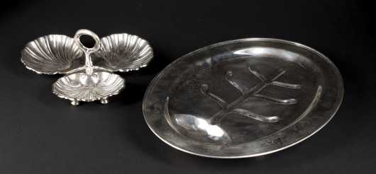 Sterling Silver Platter and Serving Dish