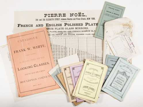 Catalogs for Mirror and Frames: Lot of late 1800s price lists