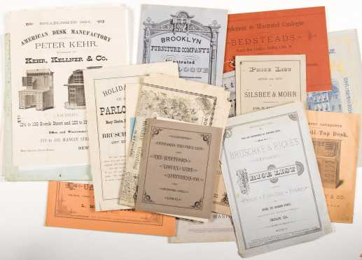 Catalogs for Furniture: Lot of late 1800's catalogs and related ephemera