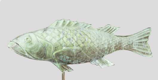 Molded Copper Fish Weathervane