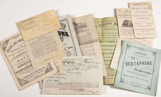 A Mixed lot of mostly late 1800s Adverting Ephemera