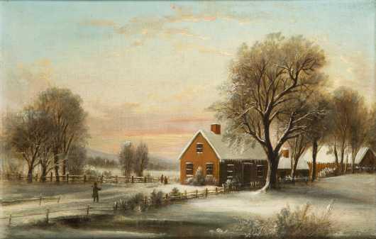American Winter Farm Scene