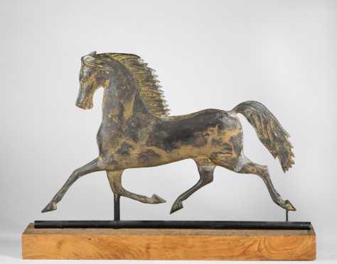Molded Copper Horse Weathervane
