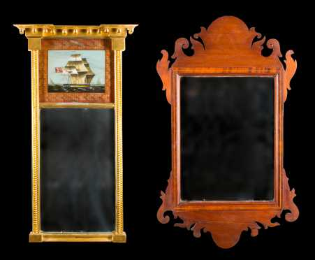 Two Antique Mirrors-American
