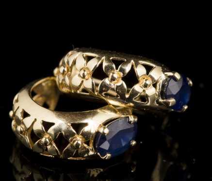 Pair of Sapphire Earrings