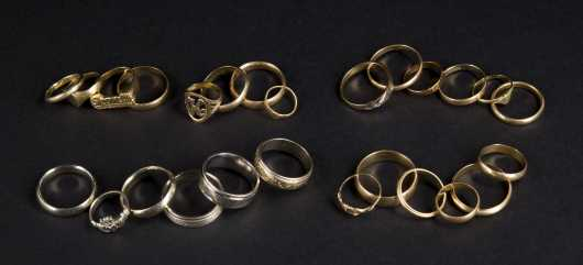 26 Yellow and White Gold Rings