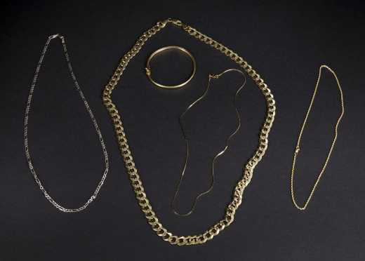 14K Yellow Gold Chains and Bracelets