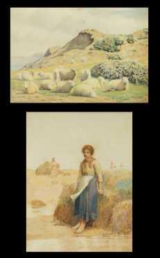 William Sydney Cooper, 1854-1927, British, plus one unsigned painting