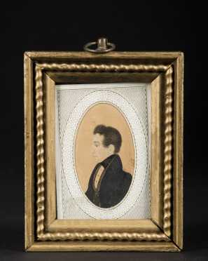 Miniature Painting Profile of Young Man