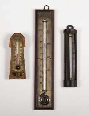 Three Charles Wilder and A.J. Dodge Thermometers