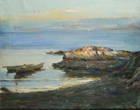 D.DePaola, 20thC., European?, Oil on Canvas of a Shore Scene