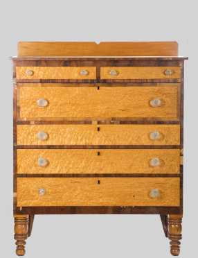 Sheraton Tiger Maple Front Chest