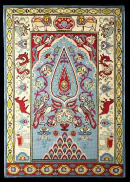 Needlepoint Wall Hanging, made to resemble an Oriental prayer rug