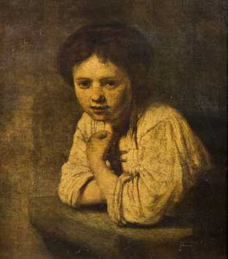 Old Master School Painting, a 20thC unsigned copy of an old master school oil on canvas painting