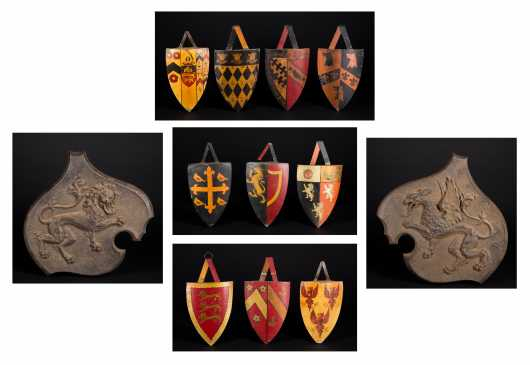 Lot of Family Crest Shields