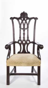 Ceremonial Chippendale Style Arm Chair