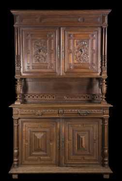 Oak Jacobean Style Cupboard