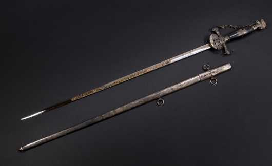 "Masonic Sword, ""James C. Taft-Greenville, NH"""