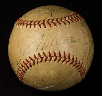 Ted Williams, Babe Ruth Signed Baseball