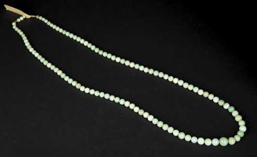 Jadeite or Nephrite Beads