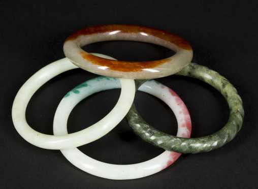 Jadeite and Nephrite Bangle Bracelets