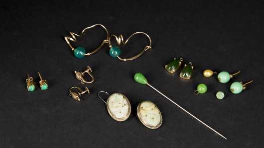 Jadeite and Nephrite Earrings