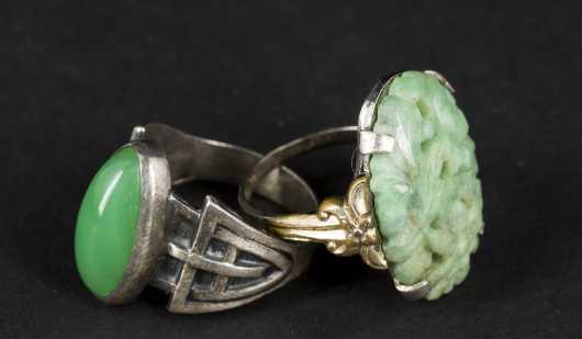 Jadeite and Nephrite Rings