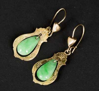 Pair Jadeite/Nephrite Earrings