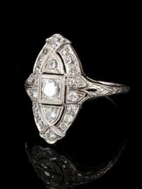 Art Deco Diamond Dinner Ring