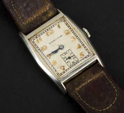 """14K White Gold """"Hamilton"""" Wrist Watch, model A888"""