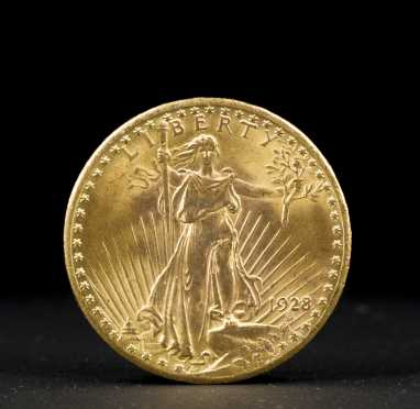 U.S. $20 Gold Piece: 1928 St Gaudeas