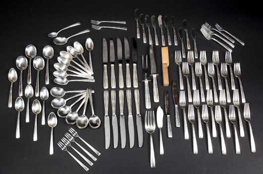Sterling Silver Table Setting for Ten