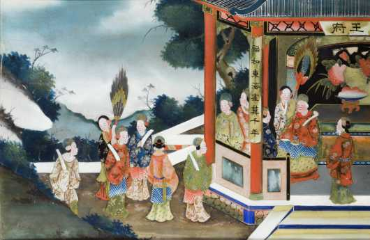 Chinese Expert Reverse Painting On Glass