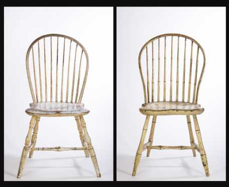 Two White Painted Windsor Chairs