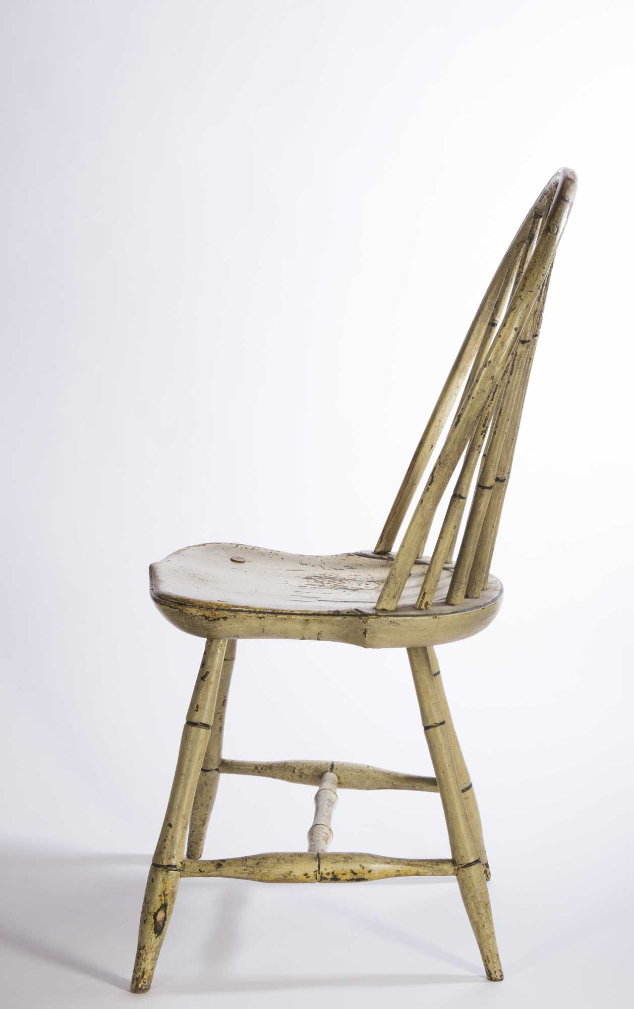 Painted Windsor Chairs - Two white painted windsor chairs