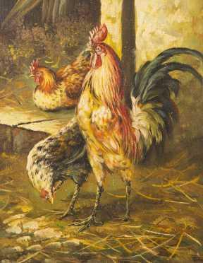 E. Huot, English, 20thC., Oil on Canvas