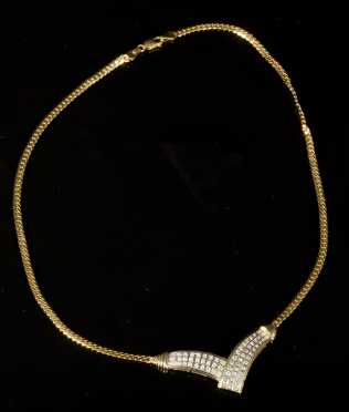Diamond and Yellow Necklace