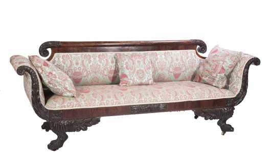 New York Empire Mahogany Sofa
