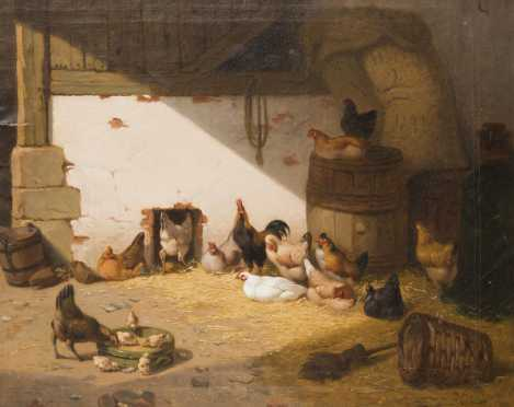 J. Chibon, French, 19thC., oil on canvas
