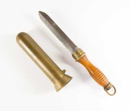 Bronze and Steel Diving Knife