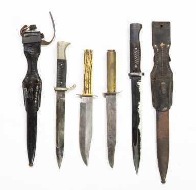 Four Bowie and Other Knives