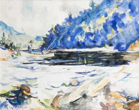 Frank Weston Benson (1862-1951), Mass, watercolor