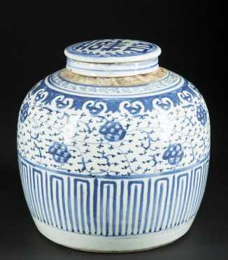 Chinese Blue/White Ginger Jar