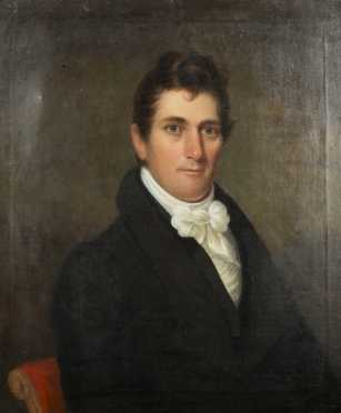 Portrait of Chester Harding, 1792- 1866, MA., oil on canvas