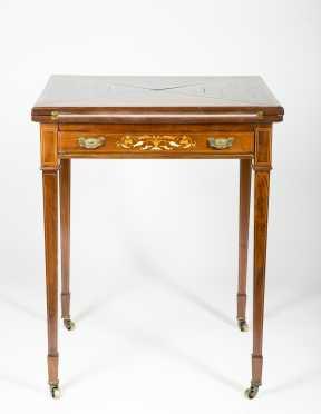 Inlaid Mahogany Handkerchief Table