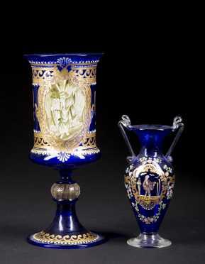 Judiatica, Cobalt Blue Glass Chalace