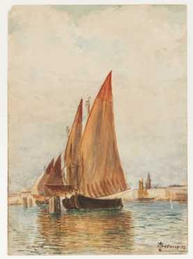 Thomas Moran (1837-1926) Watercolor