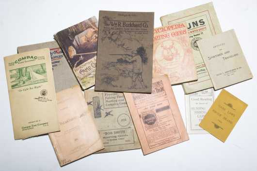 12 Sporting Catelogues and Booklets including Abercrombie & Fitch, 1906