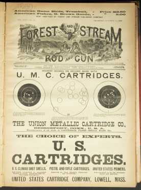 """""""Forest and Stream,"""" August 1888 - January 1889, bound volumes"""